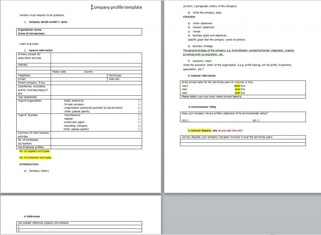 Download Company Profile Template For Business from ...