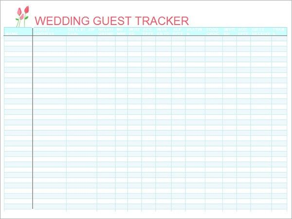 Wedding Guest List Template. Free Wedding Guest List Spreadsheet ...