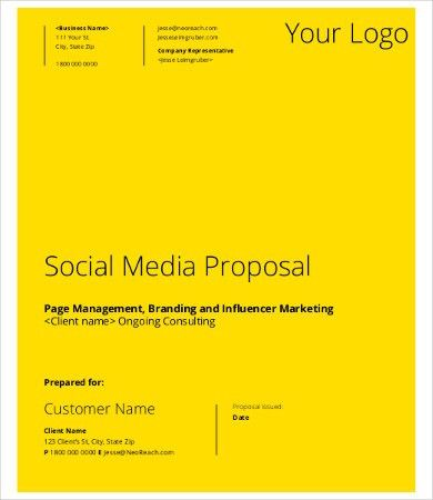 Social Media Proposal Template - 9+ Free Word, PDF Documents ...