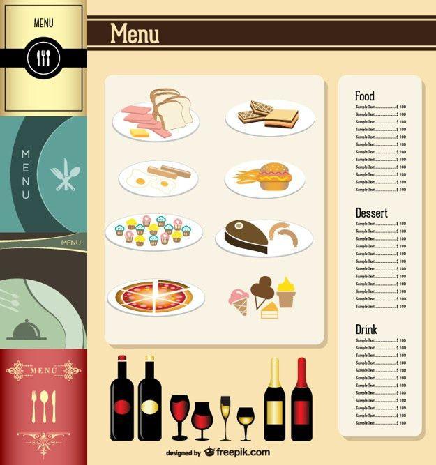 Elegant restaurant menu template Vector | Free Download