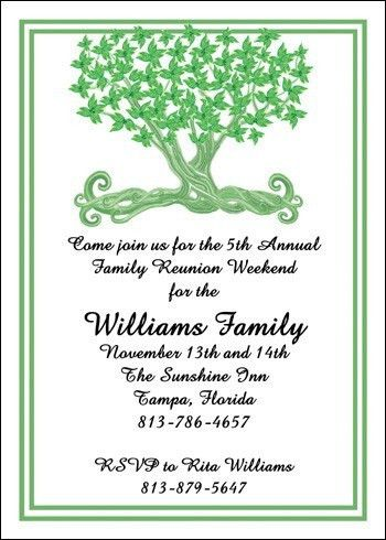 Family Reunion Invitation Cards, 21 best family reunion ...