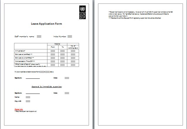 MS Word Formal Leave Application Form Template   Word Document ...