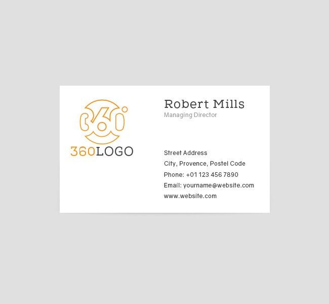 360 Degree Logo & Business Card Template - The Design Love