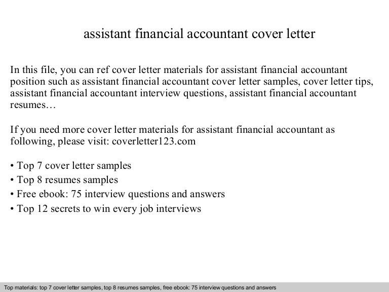 assistant accountant cover letters