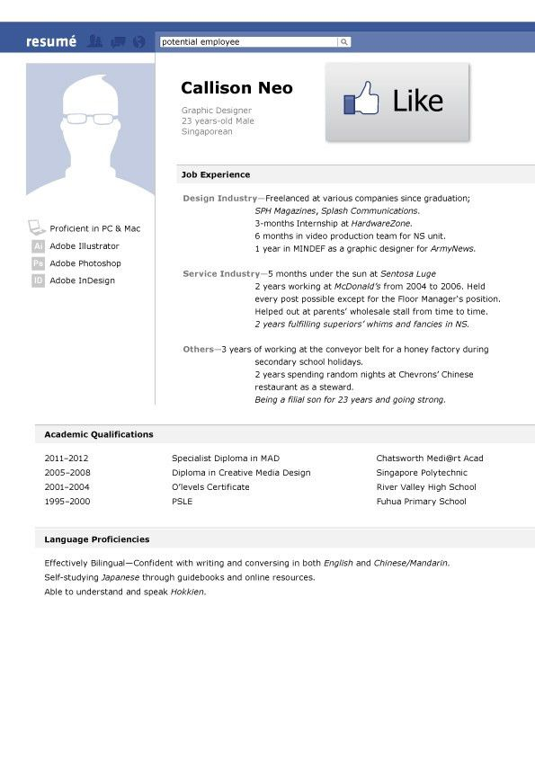 Examples of Creative Graphic Design Resumes Infographics 2012 ...