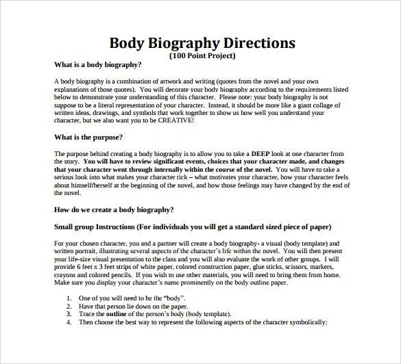 Extended Essay Example. Biography Example Biography Research ...