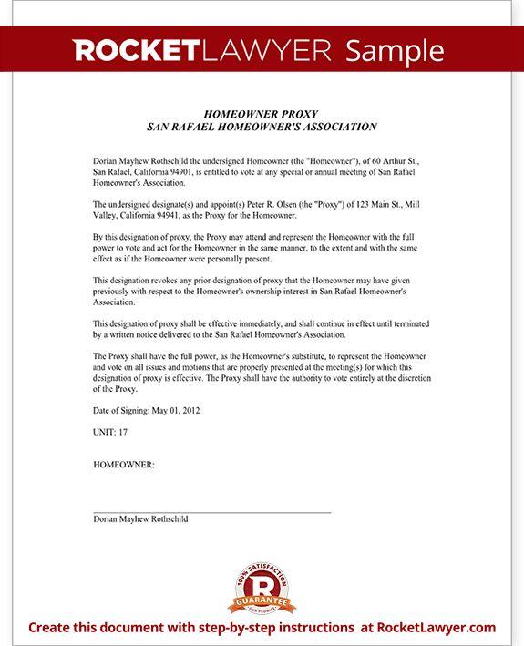 Association Letter Sample] Sample Letter To Homeowners Association ...