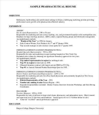 pharmaceutical resume sales representative resume pharmaceutical