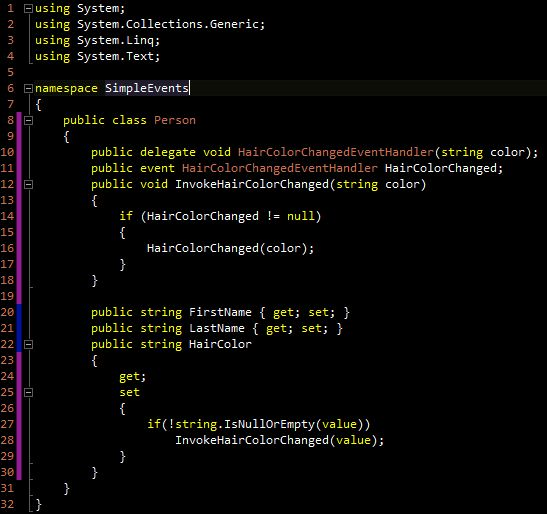 Simple example of Delegates and Events in C Sharp « ian.NET