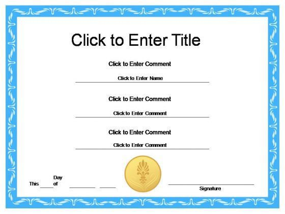 premium-New Award Certificates template