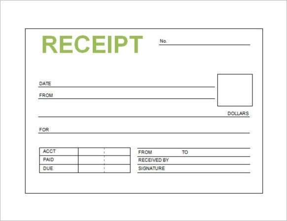 Free Receipt Template Word PDF Doc Printable | Calendar Template ...