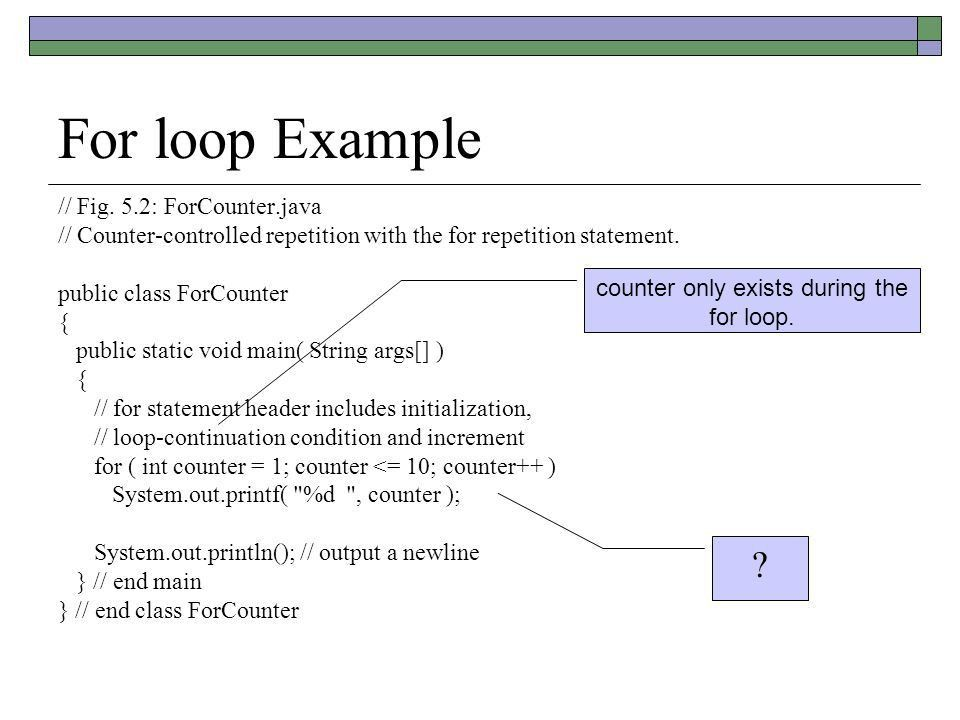 Java Review if Online Time For loop Quiz on Thursday. - ppt download
