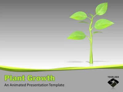 Growing Plant - A PowerPoint Template from PresenterMedia.com