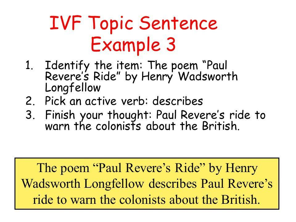 Writing a Summary with a IVF Topic Sentence - ppt video online ...