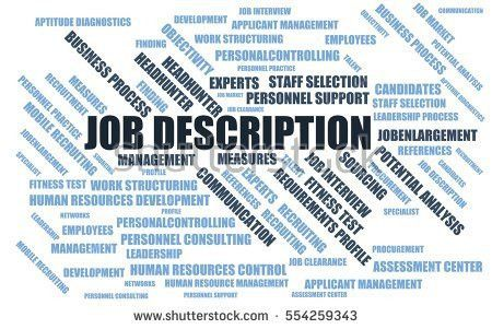 Job Description Word Cloud Wordcloud Terms Stock Illustration ...
