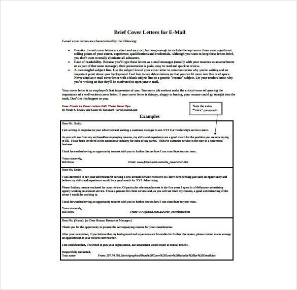 Simple Cover Letter Template – 11+ Free Word, PDF Documents ...
