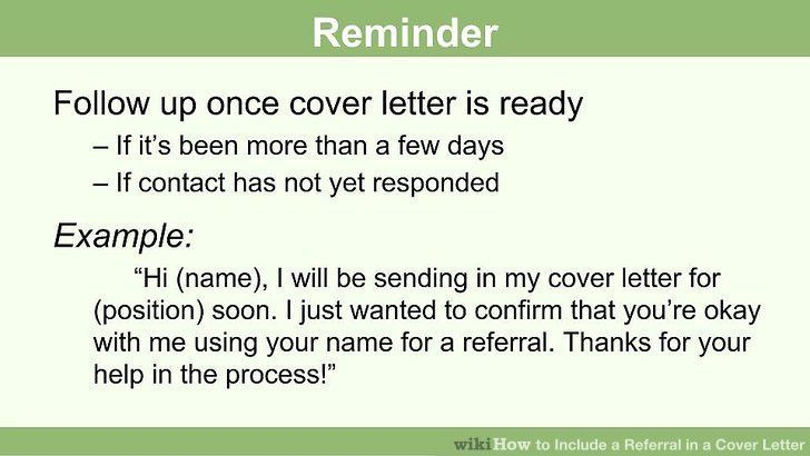 How to Include a Referral in a Cover Letter: 15 Steps