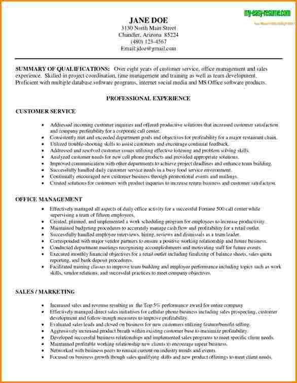 5+ customer service experience resume | worker resume