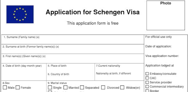Schengen Visa Application Form France