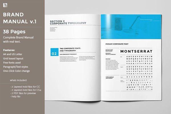 Manual Design Templates 10 professional brand manual templates to - manual design templates