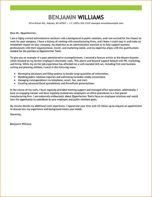 office administrator cover letter samples