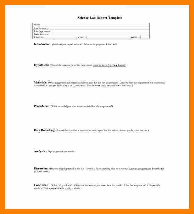 9+ formal lab report form | biology resume