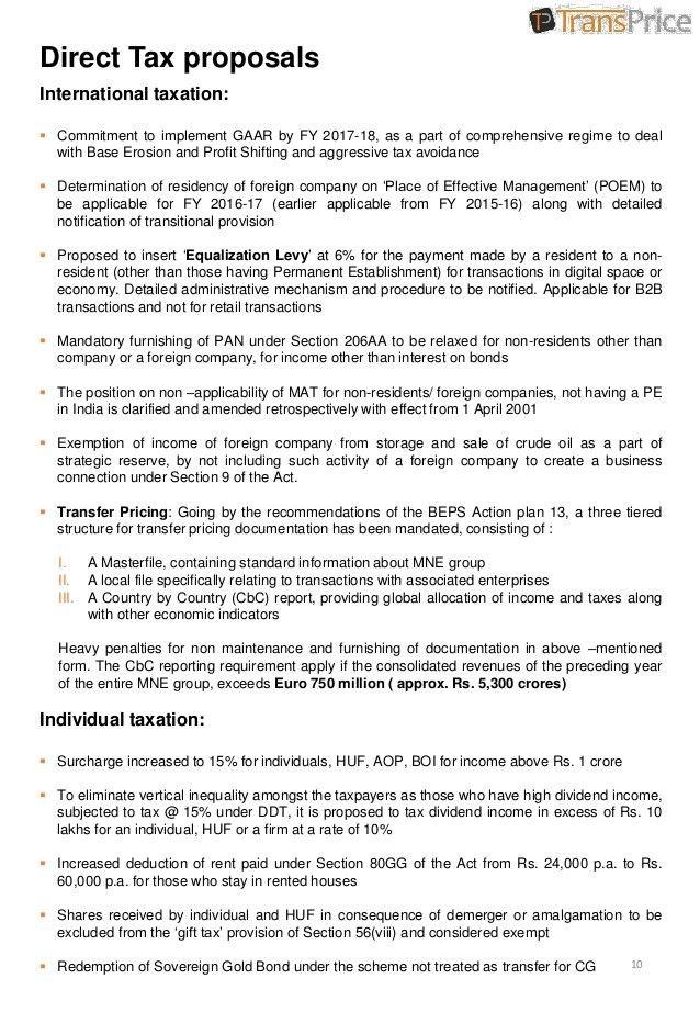 India Union Budget - 2016