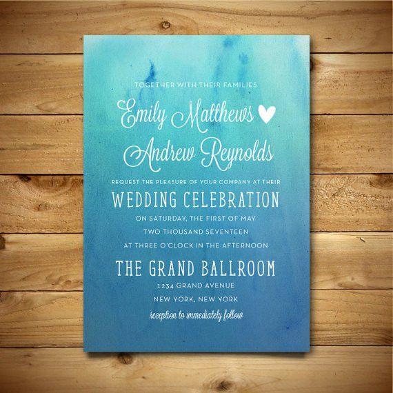 Wedding Invitation Template Printable Wedding by birDIYdesign ...