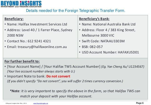 Halifax TWS Funding (Wire Transfer) & Withdrawal Guide [Using Maybank…