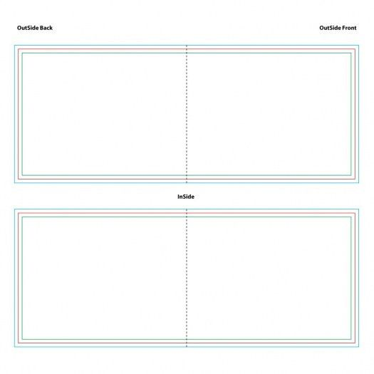 Note Card Templates 4.25x5.5, 4x6 and 5x7