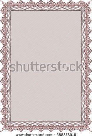 Sample Diploma Modern Design Frame Certificate Stock Vector ...