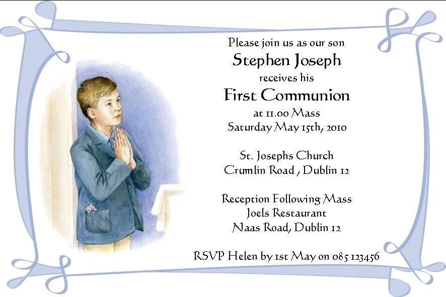 First Communion Invitation Cards | almsignatureevents.com