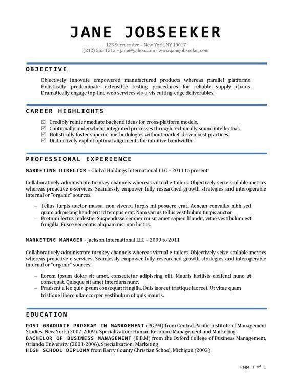 13 best Resume images on Pinterest | Resume ideas, Resume ...