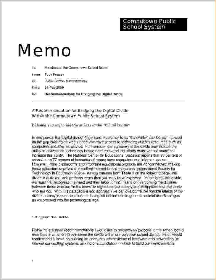 Memorandum Report Template Example Of Memorandum Report Best