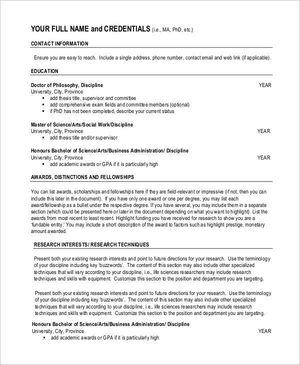 academic resume template word academic cv template curriculum