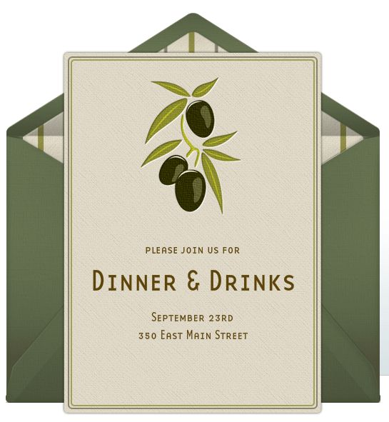 Dinner Party Invitation Template - plumegiant.Com