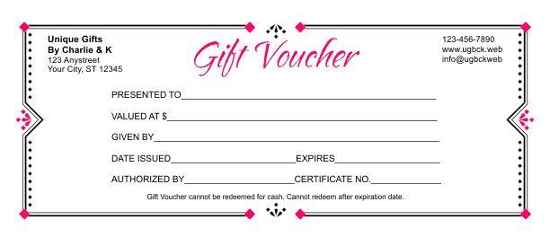 Gift Voucher Template 3