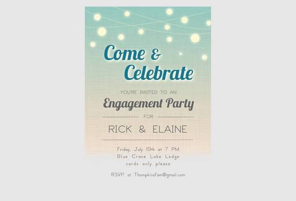 Free Printable Engagement Invitations | Enwurf.csat.co