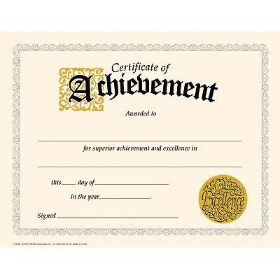 Certificate of Achievement Classic Certificates | TRENDenterprises.com
