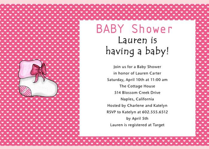baby shower invitation words baby girl shower invitations wording ...