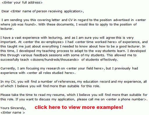 Sample Resume Format For The Post Of Lecturer | Create ...