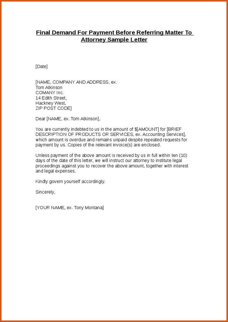 11+ demand letter template - Budget Template Letter