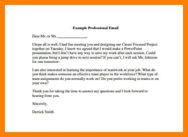 7+ example of professional email | emt resume