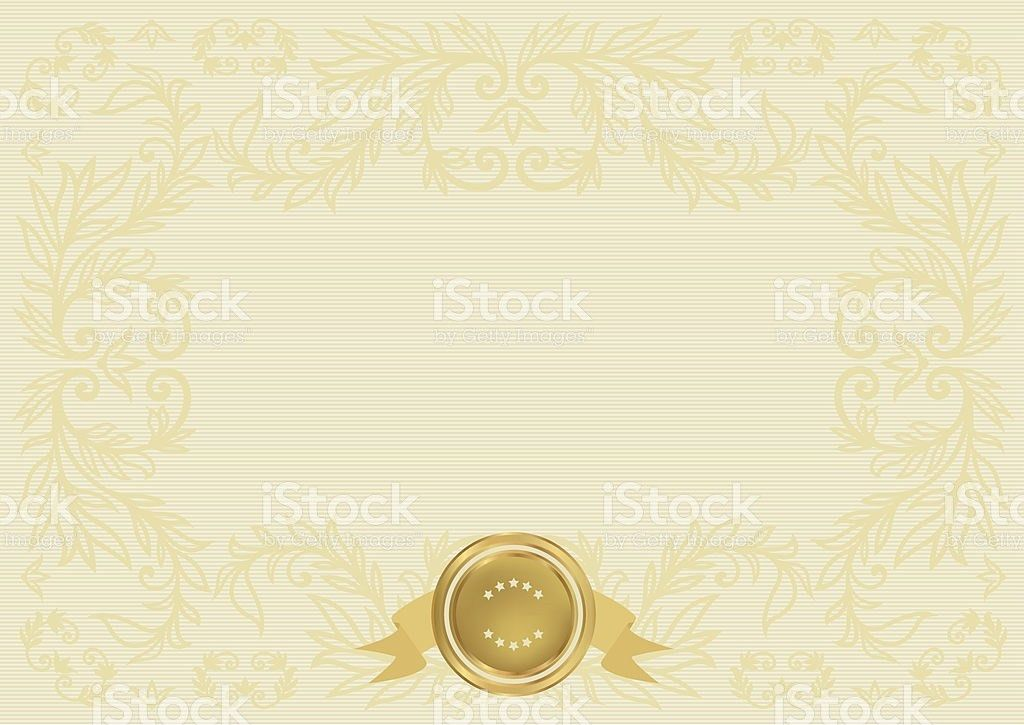 Certificate Diploma Template With Scroll Gold Border Background ...