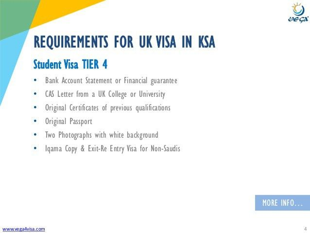 VISA REQUIREMENTS - Saudi Arabia to United Kingdom (UK) - Study Visa