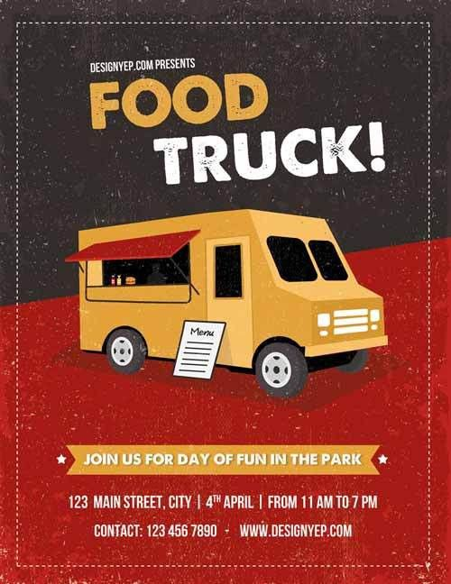 Free Download Food Truck Free Flyer PSD Template PSD Flyer ...