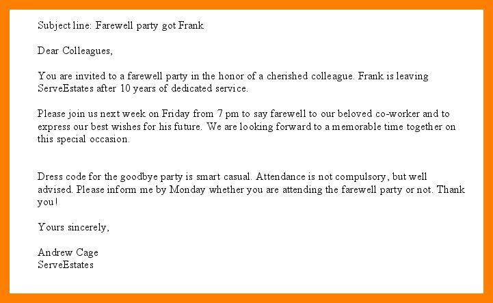 farewell party e-invitations : Cogimbo.us