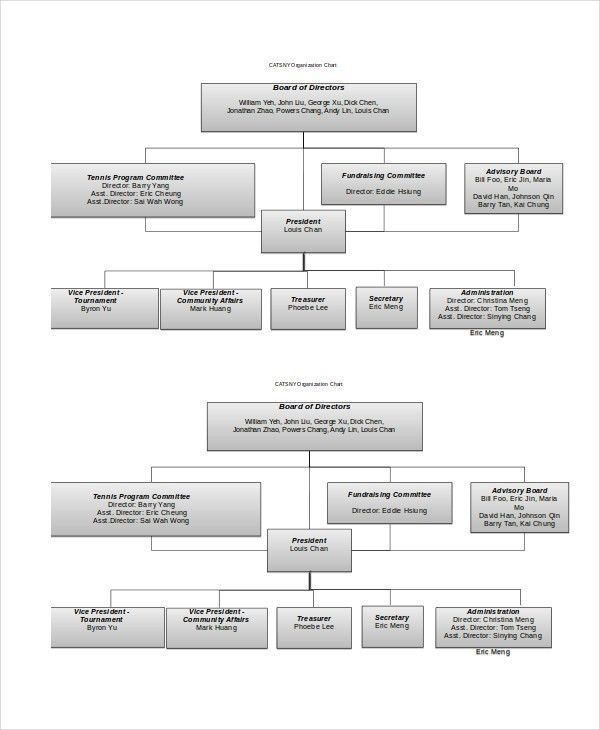 Organizational Chart - 9+ Free Word, PDF Documents Download | Free ...