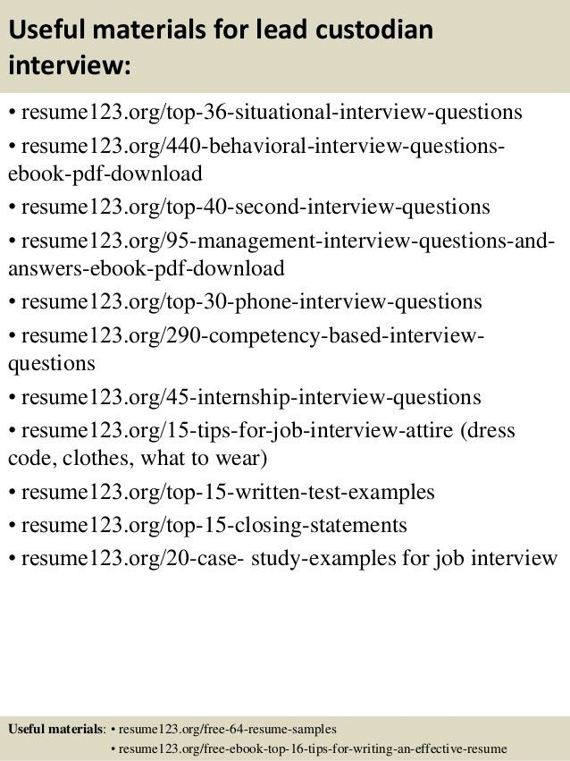 custodian resume template 6 free word pdf documents download ...