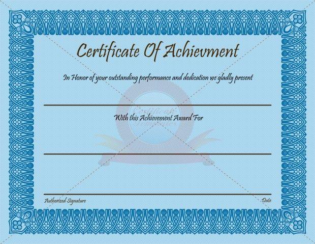 Achievement-Certificate-thumb3_2 | Certificate Template ...